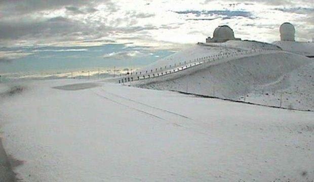 НаГавайях выпало 90 сантиметров снега— Лыжный серфинг
