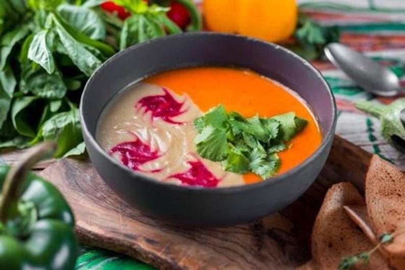 Гастропутешествие в Великий Пост. Крем-суп из баклажанов и перца