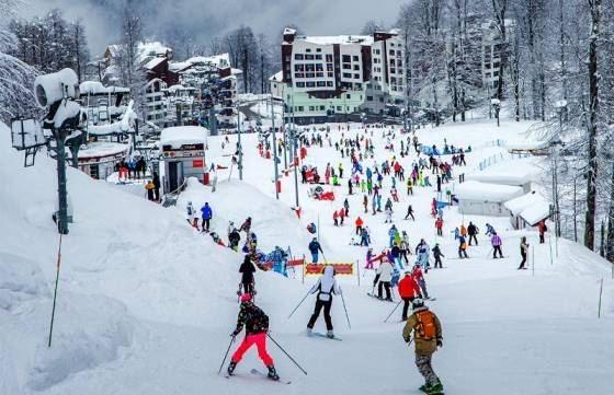 Закрываем горнолыжный сезон в России. Красная Поляна. Видео