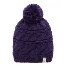 The North Face Triple Cable Pom Beanie фиолетовый ONE