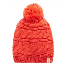 The North Face Triple Cable Pom Beanie красный ONE