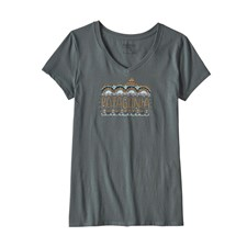 Patagonia Femme Fitz Roy Cotton V-Neck T-Shirt женская