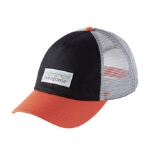Patagonia Pastel P-6 Label Layback Trucker Hat женская черный ONESIZE