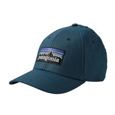 Patagonia P-6 Logo Stretch Fit Hat темно-синий S