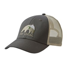Patagonia EAT Local Upstream Lopro Trucker Hat темно-серый ALL
