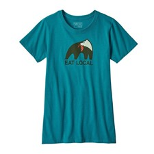 Patagonia Eat Local Upstream Cotton/Poly Responsibili-Tee женская