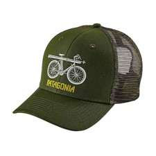 Patagonia Snow Cycle Trucker Hat темно-зеленый