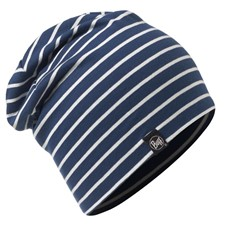 Buff Cotton Hat Denim Stripes темно-синий ONE