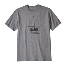 Patagonia Live Simply Wind Powered Responsibili-Tee