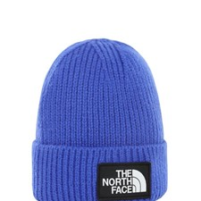 The North Face TNF Logo Box Cuffed Beanie синий ONE